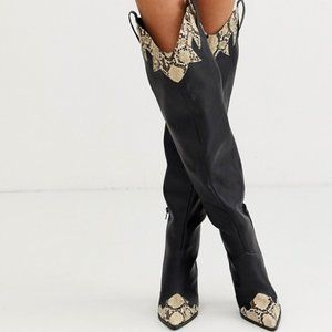Public Desire Rodeo Over The Knee Western Boots